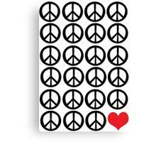 PEACE PEACE LOVE Canvas Print