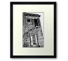 Abandoned Building In Monochrome Framed Print