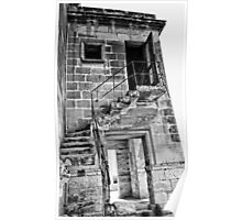 Abandoned Building In Monochrome Poster