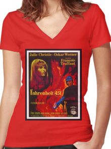 Fahrenheit 451 Women's Fitted V-Neck T-Shirt