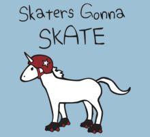 Skaters Gonna Skate (Unicorn Roller Derby) One Piece - Short Sleeve