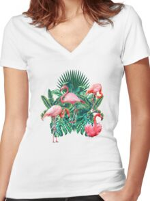 tropical mood  Women's Fitted V-Neck T-Shirt