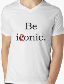 Be Ironic Irony Statement Mens V-Neck T-Shirt