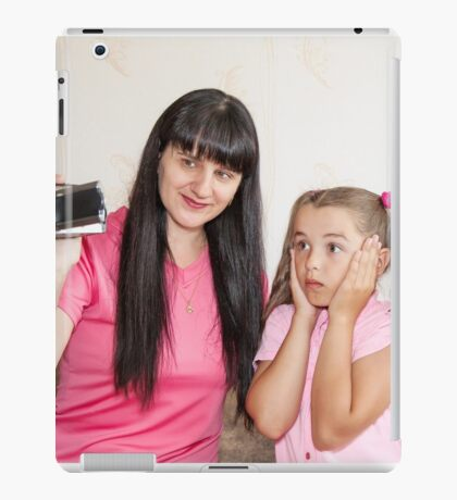 mom showing her little daughter where babies come iPad Case/Skin