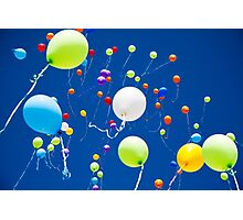 colorful balloons in the sky Photographic Print
