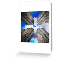 construction of residential buildings Greeting Card