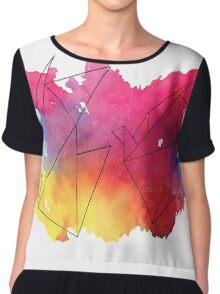 Paper Crane Watercolour Chiffon Top