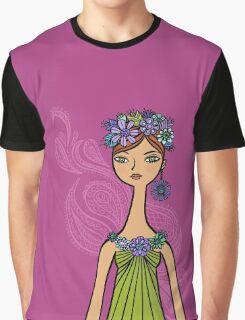 Purple Paisley Graphic T-Shirt