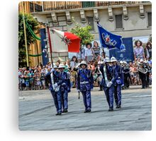 Malta Police Force Parade Canvas Print