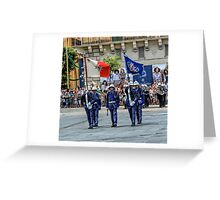 Malta Police Force Parade Greeting Card