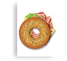 Tasty bagel Canvas Print