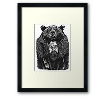 leo-bear Framed Print