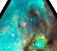 Green Galaxy Triangle Sticker