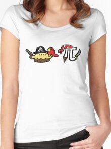 Pie and Pi Pirates Women's Fitted Scoop T-Shirt