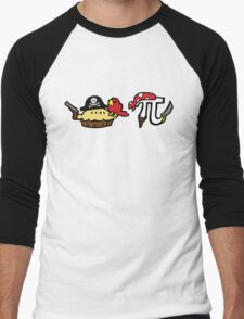 Pie and Pi Pirates Men's Baseball ¾ T-Shirt