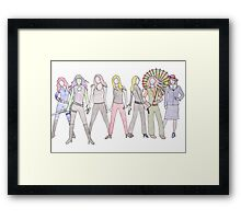 Strong Women Characters Framed Print