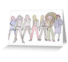 Strong Women Characters Greeting Card