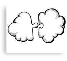 Puzzle cloud Canvas Print