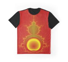 Mandelbrot in Red and Yellow Graphic T-Shirt