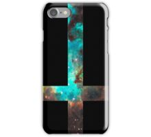 Green Galaxy Inverted Cross iPhone Case/Skin