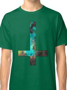 Green Galaxy Inverted Cross Classic T-Shirt