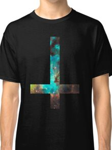 Green Galaxy Inverted Cross Classic T-Shirt