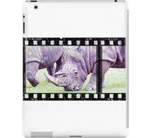 Sketch of Rhino on Film iPad Case/Skin