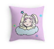 Sleepy Bunny Throw Pillow