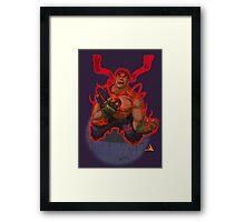 Evil Ryu Red Eyes Framed Print
