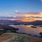 Panoramic Dawn over Derwent Water by JMChown