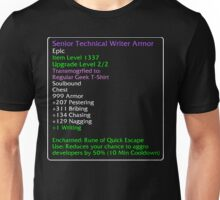 Technical Writer Armor Unisex T-Shirt