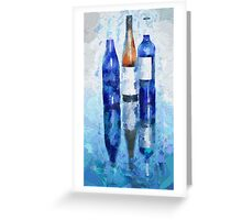 Wine Reflection Greeting Card