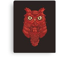 Clockwork Owl Canvas Print