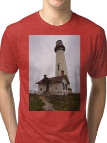 Pigeon Point Lighthouse III Color Tri-blend T-Shirt