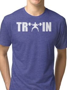 TRAIN (Squat) Tri-blend T-Shirt