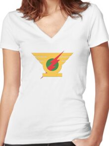 DCc Mash Up 1 Women's Fitted V-Neck T-Shirt