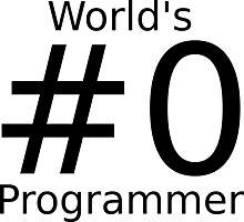World's number zero programmer Photographic Print
