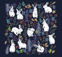White rabbits One Piece - Short Sleeve