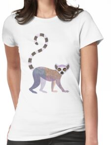 L is for Lemur Womens Fitted T-Shirt