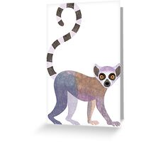 L is for Lemur Greeting Card