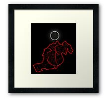 The Red K-Night Framed Print