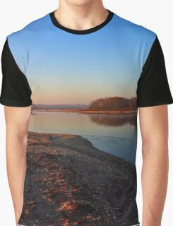 Acabonac Harbor's Winter Morning | Springs, New York Graphic T-Shirt