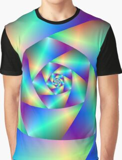 Spiral in Blue and Purple Graphic T-Shirt