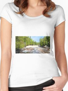 Two Step Panorama Women's Fitted Scoop T-Shirt