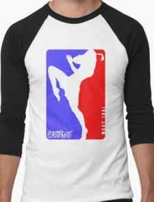 Muay Thay Boxing logo Thailand Martial Art  Men's Baseball ¾ T-Shirt