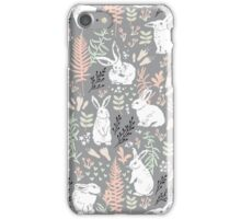 White rabbits iPhone Case/Skin