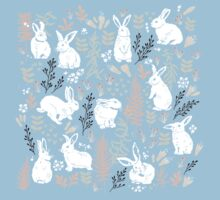 White rabbits Baby Tee
