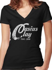 Limited Edition Casius Clay  Women's Fitted V-Neck T-Shirt
