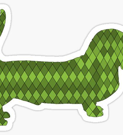 basset hound green Sticker