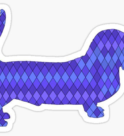 Basset Hound blue Sticker